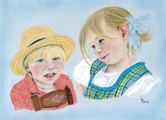 Kinder in Tracht - Lukas Leonie